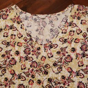Cato sage green floral blouse